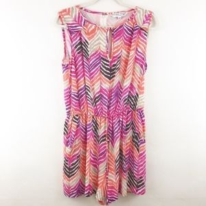 💥 Trina Turk Silk Zeba Striped Romper